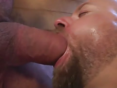 Lusty bushy dilf cavernous gullets big penis in shower