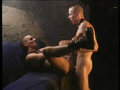 Two twinks in leather crazy fuck
