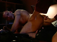 Dad fingering hairy boy in couch