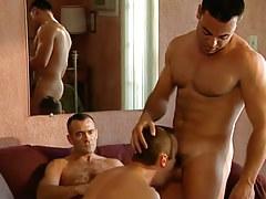 Horny bear gay plays with guys