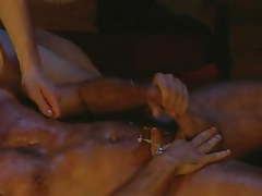 Hairy man-lover stud jizzes later on anal