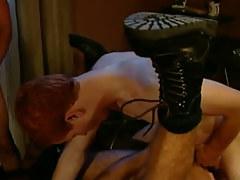 Redhead man-lover bangs horny dilf