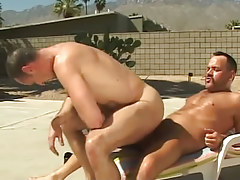 Lusty mature male rides cock of bear faggot outdoor