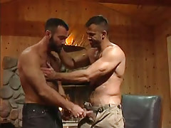 Muscle hairy fruit seduces boyfriend in house hunting
