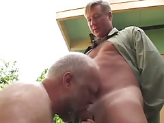 Oldest gay guy sucks hard shlong of buddy