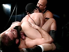 Hairy gay men dildofucks poor man in obsession fuckfest