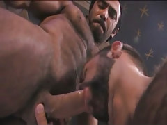 Bear eastern gay guy sucks hairy stud in pyramid