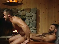 Horny bear dilf rides heavy cock in dwelling hunting