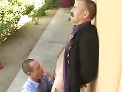 Bear melodious gay guy sucked by concupiscent dilf