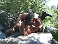 Muscle gay studs rough fuck by river