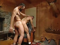 Hairy gay stallions tough fuck in doggy style