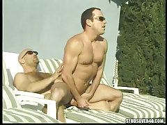 Mature twink rides dick of bear twink outdoor