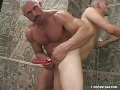Silver mature gay fanatical dildofucks poor faggot