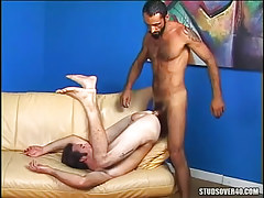 Horny gay dilf screwed by mature hairy stud