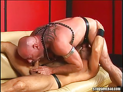 Mature bushy gays suck cocks in 69 pose