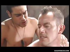 Cute gay guy gets real anal behind in orgy