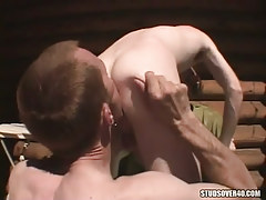 Hungry gay licking stallions ass on tearrace