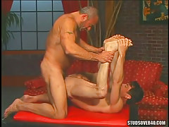 Hairy dilf screwed by old homosexual