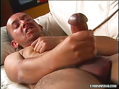 Gay with big dong masturbates
