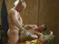 Blond gay hard jazzes boyfriend