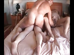 Fat mature gay guys fuck in group