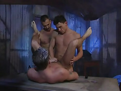 Nasty twinks fuck poor man by crooks