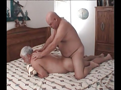 Chubby mature faggot attains real anal fuck