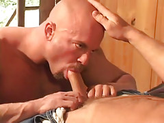 Sexy gay taking in sweet cock