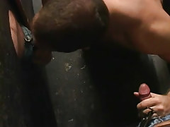 Gay stud sucks two weenies by turns
