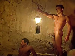 Sexy homosexual hunks have enjoyment in cave