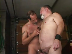 Old hairy gays torture each other