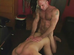 Hairy dilf digs mature partner in doggy style