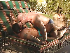 Mature muscle faggots lick every other outdoor