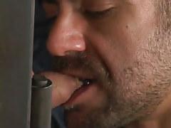 Bear gay swallowing tasty penis