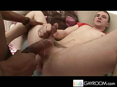 Nice gay guy acquires sweaty creampie