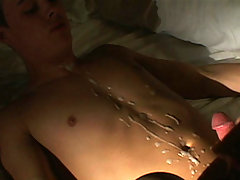 college twink gets ass screwed and front cummed